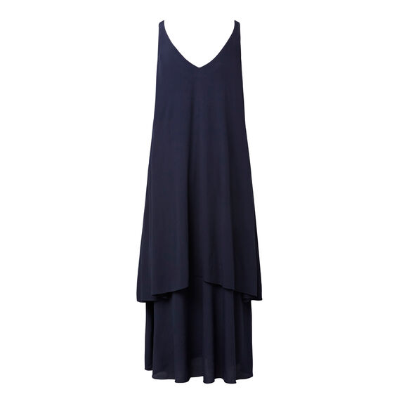 Crepe Layer Maxi  INK BLUE  hi-res