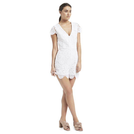 Paisley Lace Jumpsuit  WHITE  hi-res