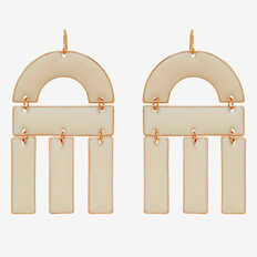 Curve Rectangle Earrings  GOLD/PINK  hi-res