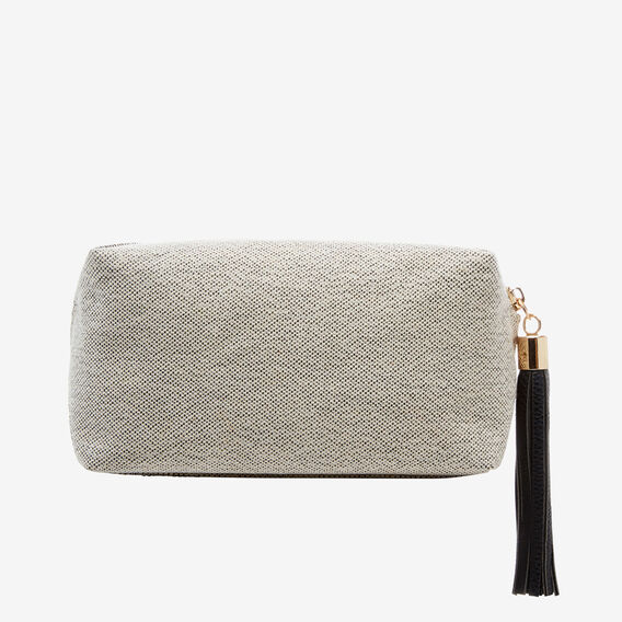 Small Cosmetic Bag  BLACK/SILVER  hi-res