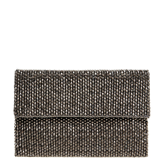 Beaded Clutch  PEWTER  hi-res