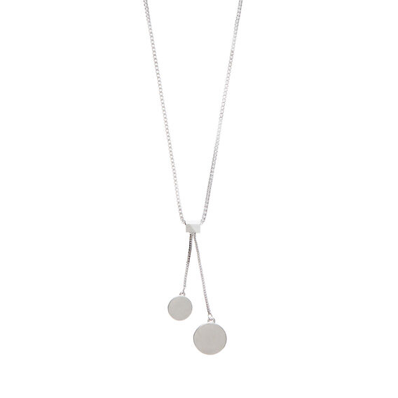 Drop Disc Necklace  SILVER  hi-res