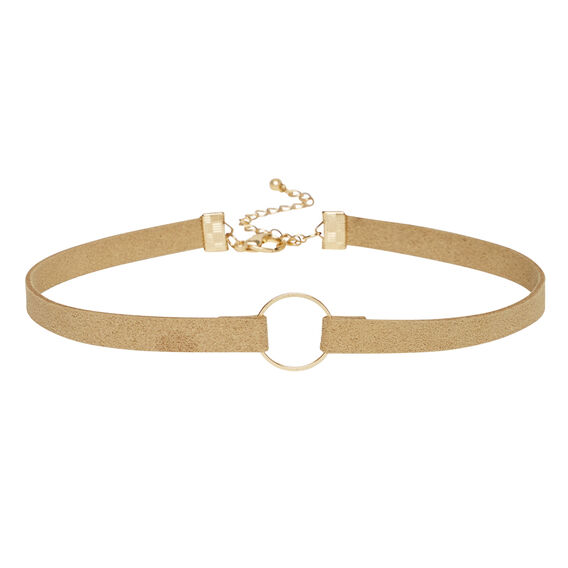 Ring Suede Choker  NATURAL  hi-res