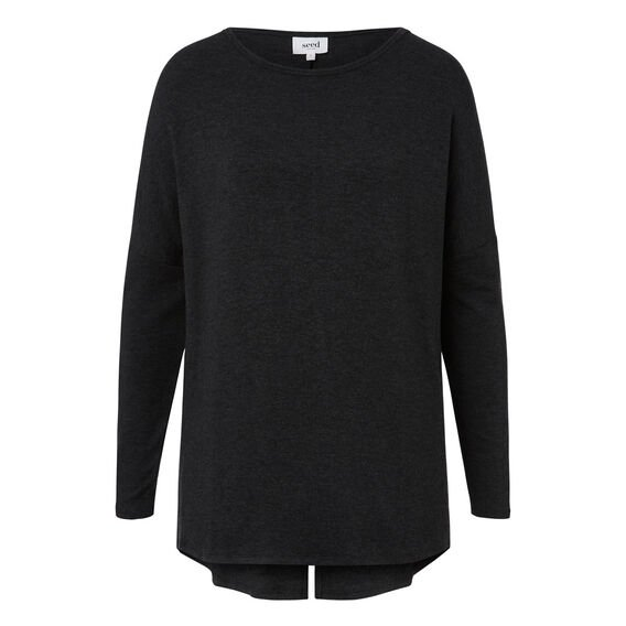 Split Back Sweater  MID CHARCOAL  hi-res