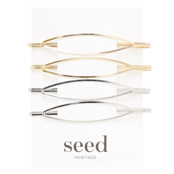 Shape Hair Pins  SILVER/GOLD  hi-res