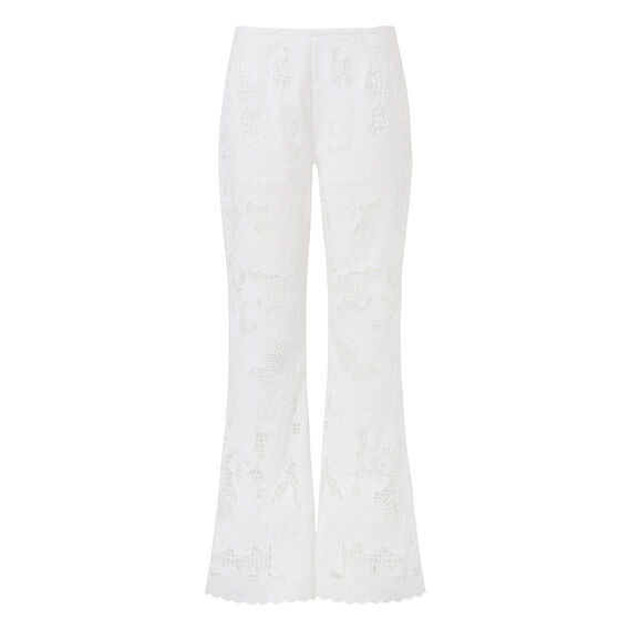 Broderie Lace Flare  WHITE  hi-res