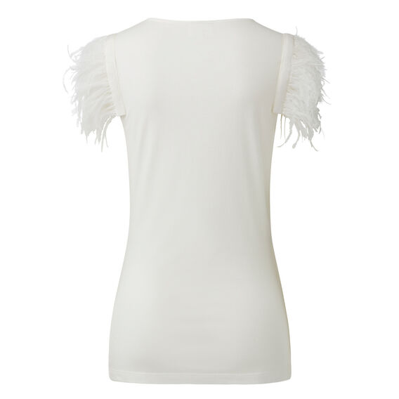 Collection Feather Sleeve Tee  CREAM  hi-res
