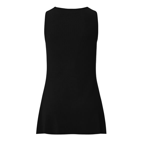 Collection Cut Out Crepe Peplum Top  BLACK  hi-res