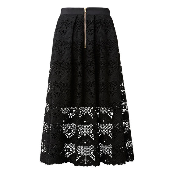 Flare Lace Skirt  BLACK  hi-res