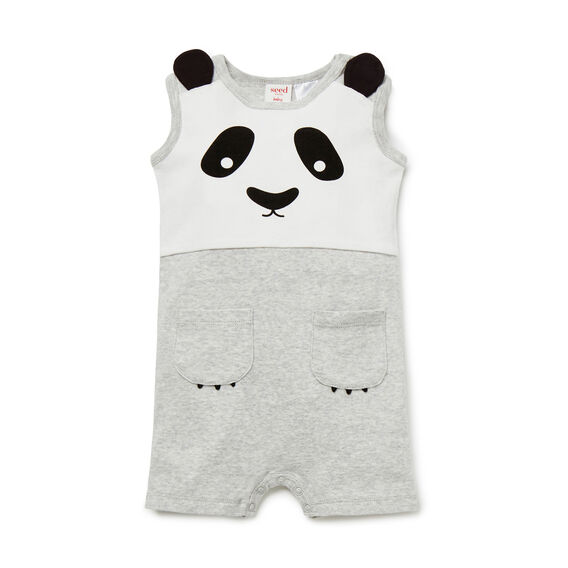 Novelty Panda Jumpsuit  FOG GREY MARLE  hi-res