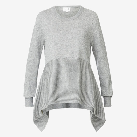 Peplum Swing Sweater  STORM GREY  hi-res