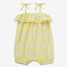 Gingham Romper  LEMON YELLOW  hi-res