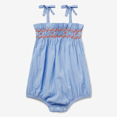 Smocked Romper  CORNFLOWER  hi-res