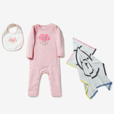Cloud Stripe Jumpsuit  MUSK PINK  hi-res