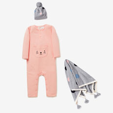 Cat Pocket Jumpsuit  BRIGHT APRICOT  hi-res