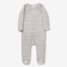 Fine Stripe Zip Jumpsuit  SLATE  hi-res