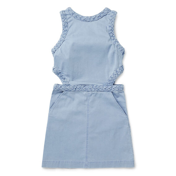 Braided Denim Dress  SUNBLEACHED CHAMBRAY  hi-res