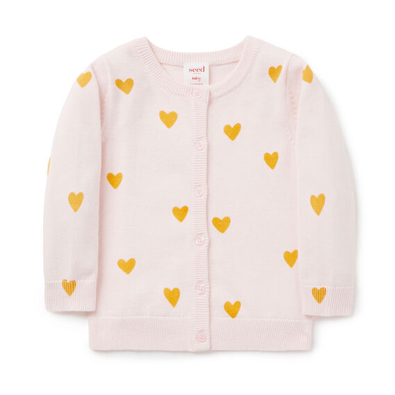 Heart Cardigan  SODA PINK  hi-res