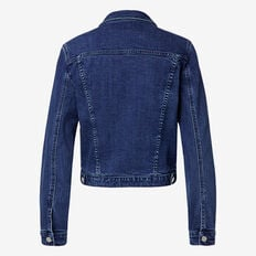 Cropped Denim Jacket  REAL DENIM BLUE  hi-res