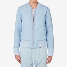 Tencel Quilt Bomber  DUTCH BLUE  hi-res