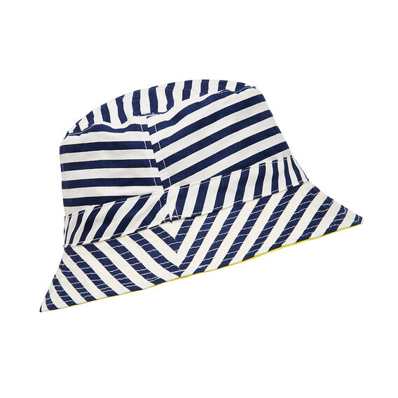Printed Sun Hat  MIDNIGHT BLUE  hi-res