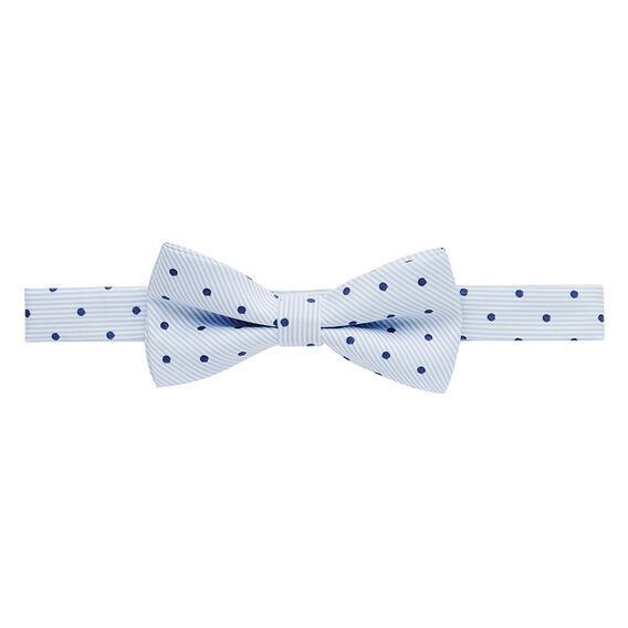 Stripe Navy Spot Bow Tie  BLUE  hi-res