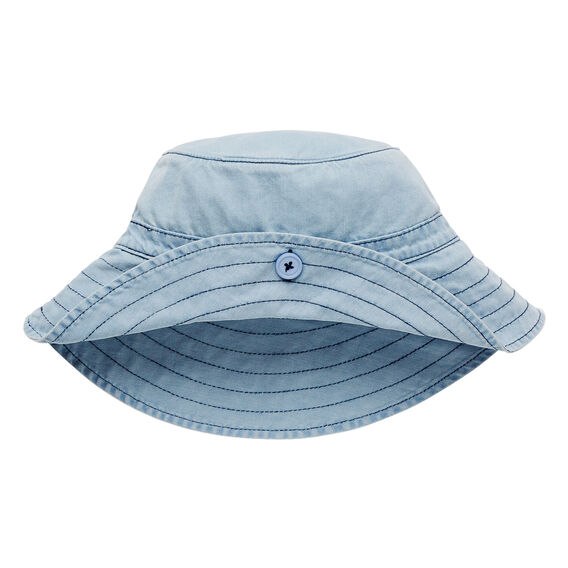Wide Brim Sun Hat  CHAMBRAY  hi-res