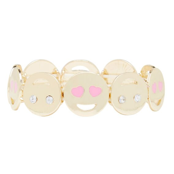 Funny Face Metal Bracelet  GOLD  hi-res