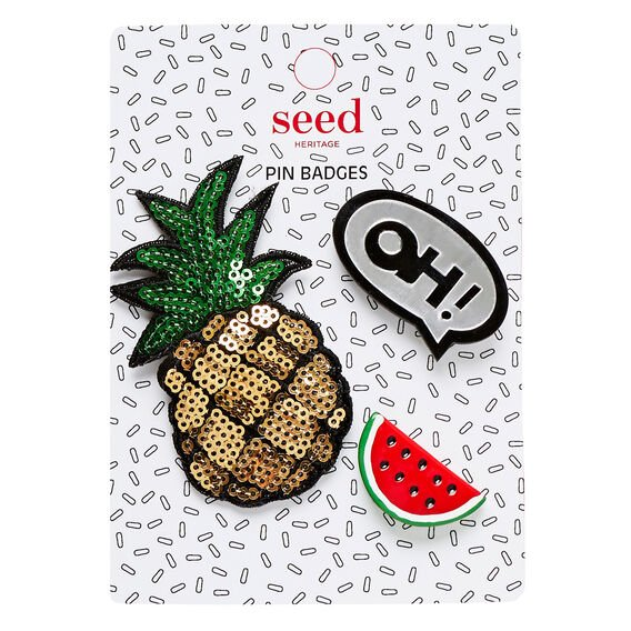 Pin Badges  PINEAPPLE  hi-res