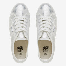 Canvas Platform Sneaker  SILVER METALLIC  hi-res