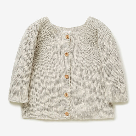 Yoke Cardigan  LIGHT GREY  hi-res