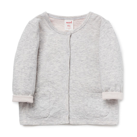 Double Knit Cardigan  SOFTEST PINK  hi-res