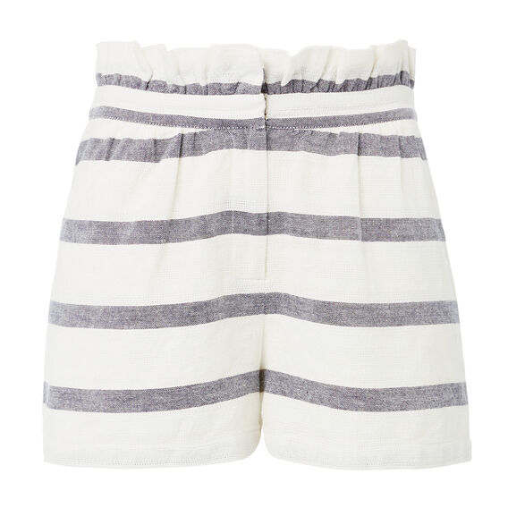 Stripe Gather Waist Short  STRIPE  hi-res