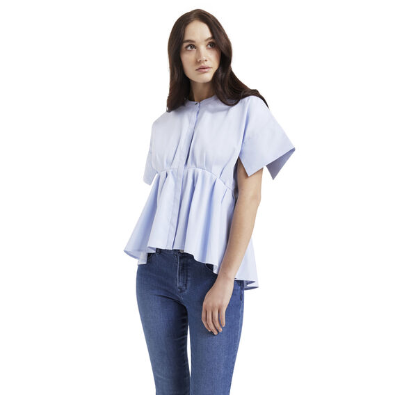 Waisted Tuck Top  CHAMBRAY  hi-res