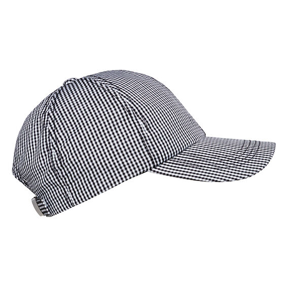 Gingham Cap  BLACK/WHITE  hi-res