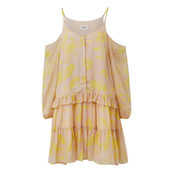 Floral Frill Dress  MULTI  hi-res