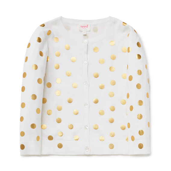Spot Cardigan  WHITE  hi-res