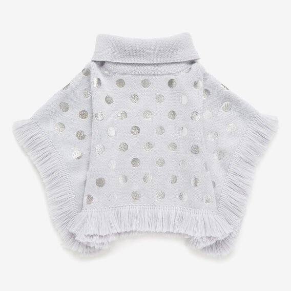 Knitted Poncho  CLOUD MARLE  hi-res