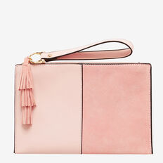Spliced Tassel Pouch  SOFT PINK  hi-res