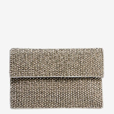 Beaded Clutch  ANTIQUE SILVER  hi-res