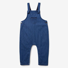 Knot Chambray Overalls  BLUE WASH  hi-res