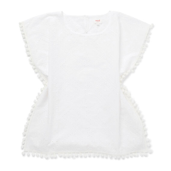 Broderie Poncho  WHITE  hi-res