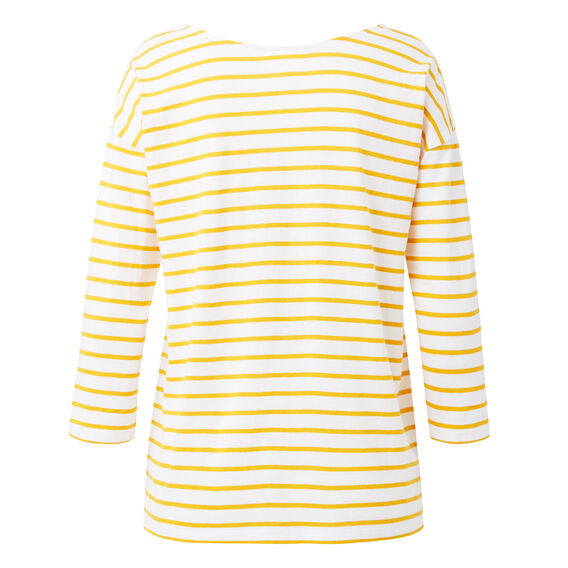 Easy Stripe Tee  SAFFRON/WHITE STRIPE  hi-res