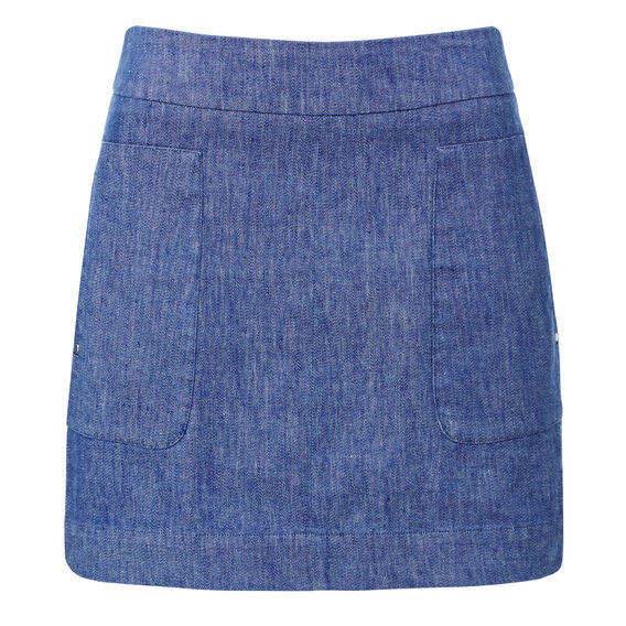 Twill A-line Skirt  INK BLUE  hi-res