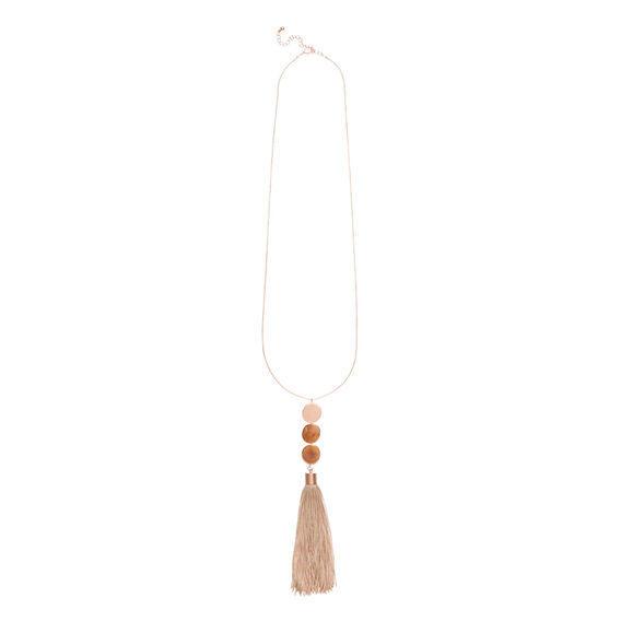 Chunky Tassel Necklace  ROSE GOLD  hi-res