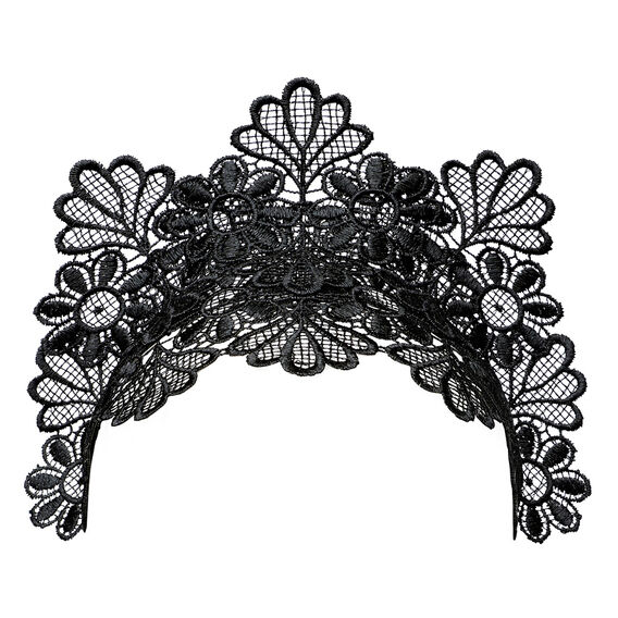 Lace Headpiece  BLACK  hi-res