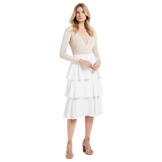 Tiered Flare Skirt  CREAM  hi-res