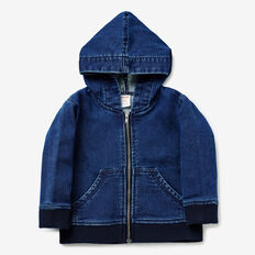 Denim Terry Hoodie  NAVY WASH  hi-res