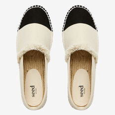 Bell Espadrille  CREAM/BLACK  hi-res