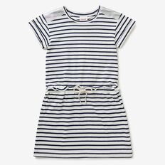 Stripe Tie Waist Dress  BLUE SKY  hi-res